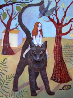 The field cat~ Isabella Bryer painting