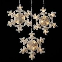 3 Piece Crystal Snowflakes Christmas Light SetItem #UL0839This set ...
