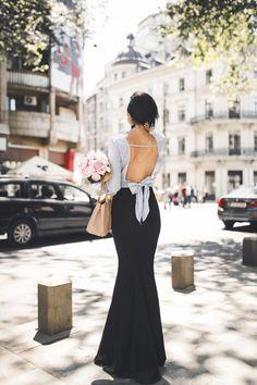 Peonies, a bow shirt & sassy street style look. — DYROGUE  Fashion Blogger Diana Rogo Wearing a Zara Top, Mermaid Skirt and Prada bag. Bow Shirts, Mermaid Skirt, Prada Bag, Street Style Looks, Zara Tops, Formal Dresses, Peonies, Sassy, Skirts