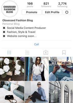 Follow obsessed fashion blog Instagram