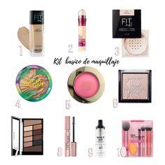 Ultimate Drugstore Makeup Starter Kit for Beginners Maybelline Makeup, Drugstore Makeup, Makeup Cosmetics, Make Up Kits, Basic Makeup Kit, Simple Eye Makeup, Natural Everyday Makeup, Everyday Makeup Routine, Rimmel