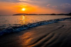 Sunset mood - This one was taken in Ao Nang beach, Thailand.  Another fantastic place in Thailand, that gave us opportunity to take a sunset photo.