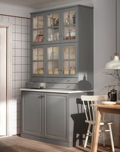 Condo Kitchen, Ikea Kitchen, Apartment Kitchen, Home Decor Kitchen, Kitchen Living, Kitchen Remodel, Grey Kitchen Designs, Interior Design Kitchen, Bodbyn Kitchen Grey