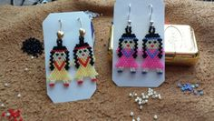 Earrings made w/ delica beads