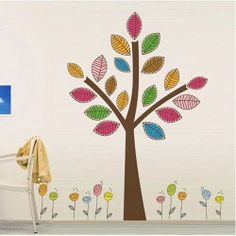 #home #decor $14.03 3D Stylish Ingot Tree Vinyl Decal Removeral Wall Sticker Home Decor (Small Size)