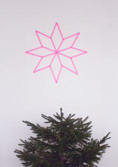 DIY -  washi tape christmas star