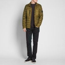 Stone Island Garment Dyed Micro Down Shirt Jacket (Military Green)