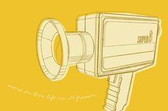 Stretched Canvas Print: Lunastrella Super 8 by John Golden : Artist Canvas, Canvas Art, Big Canvas, North Carolina Lighthouses, Super 8 Camera, Linoleum Block Printing, Painting Edges, Stretched Canvas Prints, Surf Shop