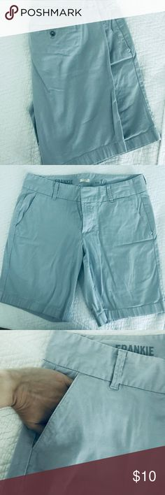 "J Crew Frankie Stretch Chino Short 9"" inseam   Size 10  98% cotton 2% elastine J. Crew Shorts"