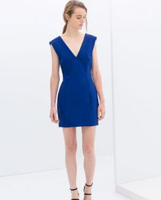 Image 3 of TIGHT FIT V-NECK DRESS from Zara