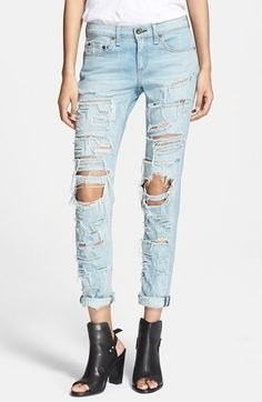 rag & bone/JEAN 'The Dre' Destructed Jeans (Thrasher)