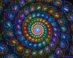Manmade fibonacci spiral