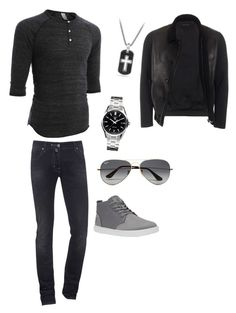 """""""Untitled #247"""" by bamagal1994 on Polyvore featuring LE3NO, Jacob Cohёn, David Yurman, Gucci, Tag Heuer, Ray-Ban, mens, men, men's wear and mens wear"""