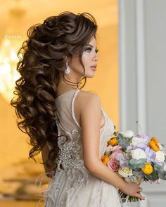 Elstile Long Wedding Hairstyle Inspiration ❤️ http://www.deerpearlflowers.com/elstile-long-wedding-hairstyle-inspiration/4/