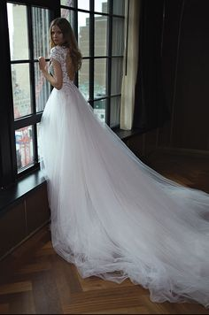 See Berta Bridal's Gorgeous Fall 2016 Wedding Dresses Couture Wedding Gowns, 2016 Wedding Dresses, Bridal Gowns, Bridesmaid Dresses, Tulle Wedding, Bride Dresses, Tinkerbell Dress, Berta Bridal, Bridal Collection