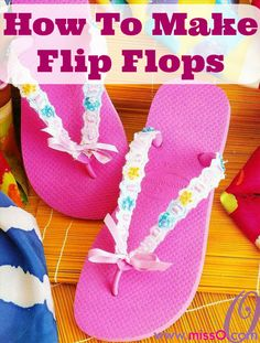 Check out these DIY flip flop projects with beads and embellish your old sandals in a day. Flip flops come in a variety of colors and can match any outfit. Cute Flip Flops, Pink Flip Flops, Flip Flop Shoes, Beaded Sandals, Embellished Sandals, Flip Flop Craft, Color Rosa Claro, Decorating Flip Flops, Shoe Refashion