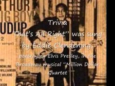 "First ""Rock & Roll"" song....listen to guitar solo    Arthur Crudup - That's All Right (original version)    Arthur ""Big Boy"" Crudup (August 24, 1905 — March 28, 1974) was a delta blues singer and guitarist.   He is best known outside blues circles for writing songs later covered by Elvis Presley and dozens of other artists, such as ""That's All Right"" (1946)[1], ""My Baby Left Me"" and ""So Glad You're Mine."""
