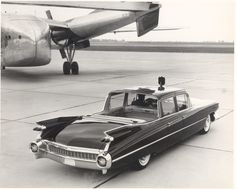 1959 Cadillac Landau Limousine.  With its Royal shield mounted on the leading edge of the roof