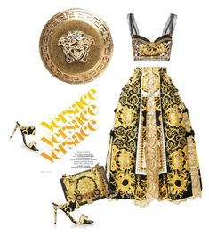 """""""Versace Versace Versace"""" by stellina-from-the-italian-glam ❤ liked on Polyvore featuring Versace, internationalwomensday, pressforprogress, FemaleDesigners and ByWomenForWomen"""