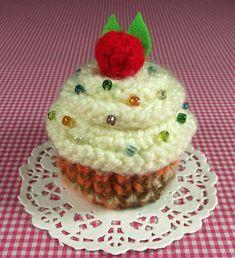 Cupcake KNITTING PATTERN Amigurumi Cupcake Toy by LiliaCraftParty