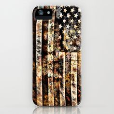 Old Glory Redone iPhone Case by Timothy Davis - $35.00