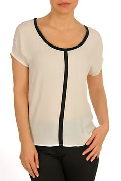 F3024405-Cream-front Fall Collections, Carry On, V Neck, Cream, Unique, Top, Outfits, Women, Fashion