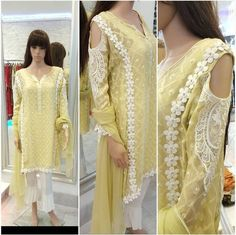 Stylish Dresses, Casual Dresses, Fashion Dresses, Pakistani Wedding Outfits, Pakistani Dresses, Eid Outfits, Indian Outfits, Dress Neck Designs, Sleeve Designs