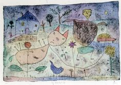 The reluctant cat by Michael Leunig