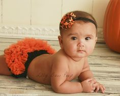 Halloween Diaper Cover & Flower Headband-Black and by LillyBowPeep