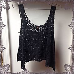 Pyramid Coll.  Blk Lace Flowy Tank-top Pullover -new w/o tags -bought it for myself, but then didn't wear it -would look great over other tops. That's how I was planning on wearing it  -still would! but my style has changed. -by Pyramid Collection's Sweet Love collection. Also, lace it thicker and NOT low quality thin. Sweet Love for Pyramid Collection  Tops Tank Tops