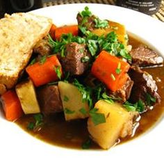 Irish-Style Lamb Stew Recipe.  This was wonderful and even the kids liked it.