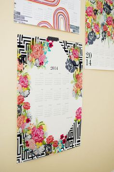 MICHI GARDEN 2014 large canvas wall calendar by khristianahowell