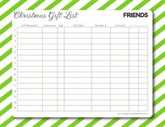 Organizing Made Fun: Having an organized Christmas and YOUR free gift! - free Gift Lists for family, friends, and work Christmas Photos, Christmas Time, Christmas Present List, Life Organization, Organizing, Planner Pages, Christmas Printables, Free Gifts, Free Printables