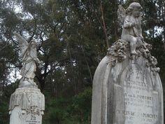 Grave Statues    Chewton Cemetery