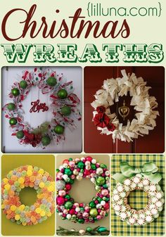Super Fun and Easy Christmas Wreaths