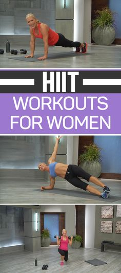 HIIT it hard as we build lean muscle and drop the fat with these HIIT workouts for women. Let's jumpstart your metabolism and tone the body during these quick and effective 30-minute Tabata-style interval workouts. Up the intensity by tacking on your choice of a 10-minute booty blast or 10-minute ab blast, or use them as a quick workout option when you're pressed for time. Tabata-style is comprised of 20 seconds of all-out effort followed by 10 seconds of recovery. These HIIT workouts for…