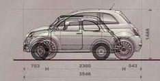 Bilderesultat for dante giacosa Fiat Cinquecento, Fiat 500c, Fiat Abarth, Mercedes Classic Cars, Automobile, Europe Car, New Fiat, Microcar, Fiat Cars