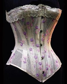 Summer Victorian Corset How they wore these I don't know