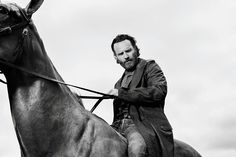 Rick Grimes. He looks so good on a horse. Yum.