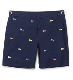 Newport Mid-Length Embroidered Swim Shorts ($115) by Polo Ralph Lauren, mrporter.com