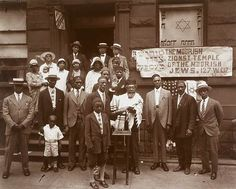 Black Jews, Harlem, 1929 | James van der Zee  Moorish Zionist Temple of the Moorish Jews, West 137th Street