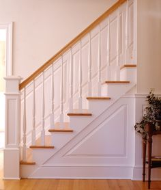 Our classic raised and recessed panel wainscoting is the most authentic available in the industry. Wainscoting Stairs, Staircase Design, Staircase Ideas, Decorative Panels, Raised Panel, Stairways, Design Inspiration, Design Ideas, Home Projects