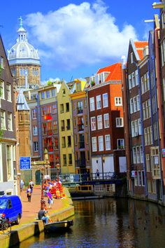The largest and most important cities in the Netherlands are Amsterdam, The Hague and Rotterdam. Amsterdam is the country's capital. Places Around The World, Oh The Places You'll Go, Travel Around The World, Great Places, Places To Travel, Beautiful Places, Places To Visit, Around The Worlds, I Amsterdam