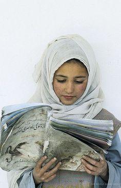 Young girl reading. Pakistan
