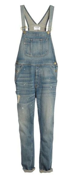 They're back: Denim overalls by FRAME Denim. Please tell me this is true, I love overalls!