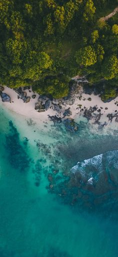 Aerial view with drone camera above the green tree mountain at corner of beach nature wallpaper. Aerial Photography, Beach Photography, Nature Photography, Photography Ideas, Earth View, All Nature, Nature Beach, Nature Wallpaper, Wallpaper Wallpapers