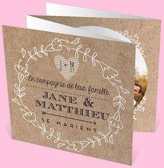 Faire-part mariage réf. N83001 chez monFairePart.com