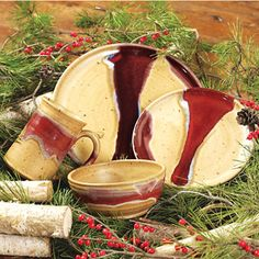 Red River Pottery ~ Dinnerware Set