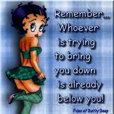 Send FREE Betty Boop Sayings-Ecards, Christmas-Ecards-Birthday-Ecards to Friends, Relatives and Co-Workers Holly Hobbie, Black Betty Boop, Betty Boop Cartoon, Betty Boop Pictures, My Idol, Life Quotes, Qoutes, Story Quotes, Quotations