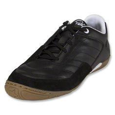 BLACK FRIDAY DEAL: Pele Radium Indoor Soccer Shoes (Black/Running White/Light Gum) Buy www.aztecasoccer.com
